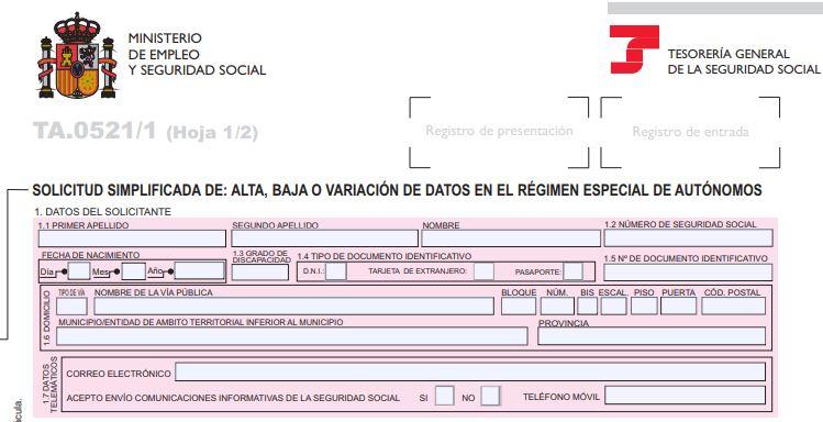 Inscripción de trabajadores autónomos en el RETA