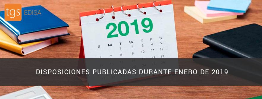 disposiciones publicadas durante enero 2019